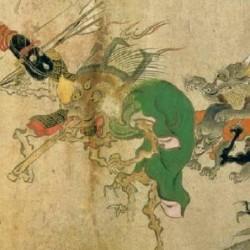 """Первое изображение готоку-нэко. Фрагмент свитка """"Хякки-ягё эмаки"""""""