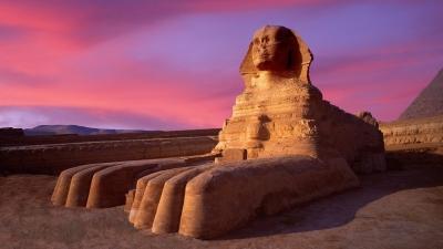 Большой сфинкс из Гизы. Знаменитое египетское изваяние