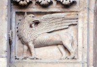 Грифон (барельеф, кафедральный собор Фиденцы, Италия)