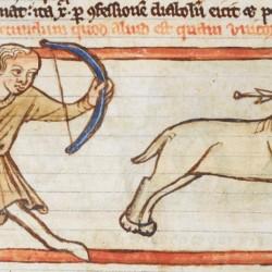 Единорог (monoceros). Рукопись Британской библиотеки (MS Harley 3244, fol. 42v.)