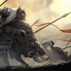 """Гномья кавалерия. Концепт-арт к игре """"The Hobbit: Armies of the Third Age"""""""