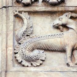 Козерог (барельеф, кафедральный собор Фиденцы, Италия)