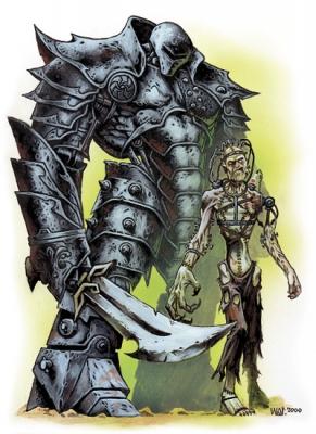 Големы. Иллюстрация Уэйна Рейнолдса к сеттингу D&D