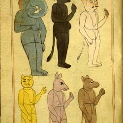 Демоны или джинны. Рукопись Национальной библиотеки медицины, Бетесда, США (MS P 2, fol. 149r.)