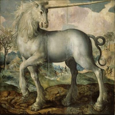 Единорог. Картина Мартина де Воса (1572)