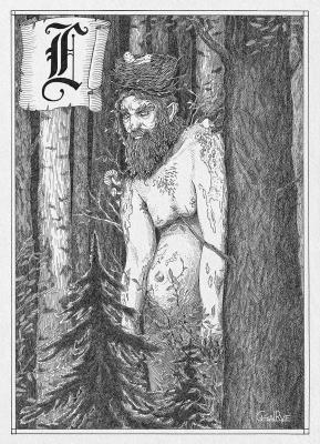 Леший. Иллюстрация Юлии Широниной (CoalRye)