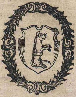 """Герб """"Морской кот"""". Изображение из """"Orbis Poloni"""", XVII век"""