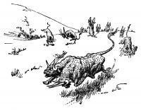 """Иллюстрация Джона Диксона Баттена к сказке """"Рыжий Эттин"""" из собрания Джозефа Джекобса"""