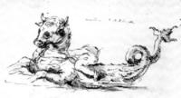 Квинотавр. Рисунок Фрэнсиса Дашвуда (около 1700)