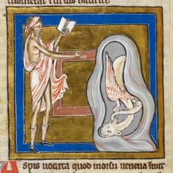 Аспид. Рукопись Британской библиотеки (Royal 12 C XIX, fol. 65v.)
