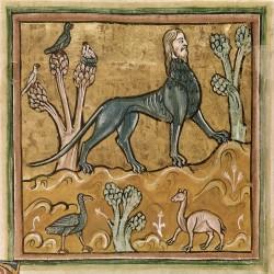 Мантикора. Рочестерский бестиарий (Royal 12 F XIII, fol. 24v.)