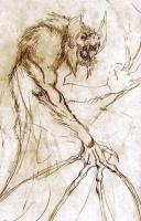 """Werebat Sketch..."" by Zachariah Campbell"