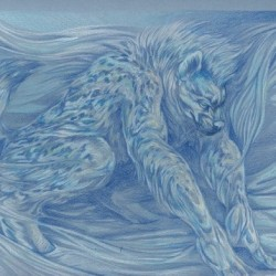 """White Werehyena"" by Cara Jane Mitte"