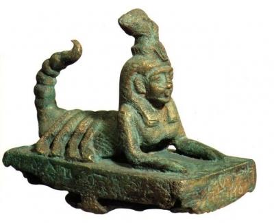 Древнеегипетская бронзовая статуэтка богини Серкет