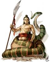 Shinomen-naga. Иллюстрация Мэтта Кавотта (Matt Cavotta)