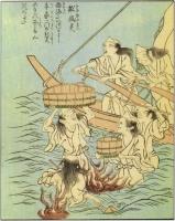 "Фуна-юрэй. Рисунок Такэхары Сюнсэна из ""Ehon Hyaku monogatari"""