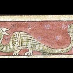 Амфисбена. Рукопись Британской библиотеки (MS Sloane 3544, fol. 38r.)