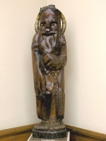 Стрибог. Скульптура С.Т.Конёнкова, дерево с инкрустацией, рог (1910)