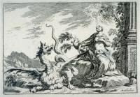 Святая Маргарита и дракон. Офорт Доминико Маттиоли