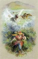"""Тулпар Акбузат. Иллюстрация А.Р.Мухтаруллина к эпосу """"Акбузат"""""""