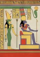 Богиня Мут и бог Амон-Ра. Реконструкция изображения III века до н.э.