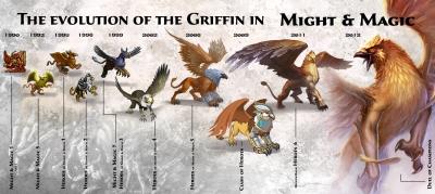 Эволюция грифонов в серии игр Might&Magic