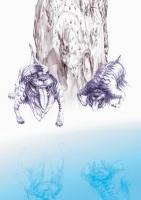 Тибицены, адские псы с Канарских островов. Рисунок Амелии Пизака