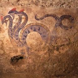 Дракон-гидра со стен этрусской гробницы