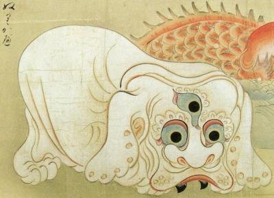 Нурикабэ. Иллюстрация Кано Торин (狩野洞琳由信), 1802 год