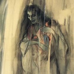 Призрак Хисэкавы Сигэнобу с ребенком. Автор Ито Сэйу