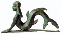 Морская русалка (Сцилла? Нереида? Сирена?). Бронзовая этрусская фигурка VII века до н.э.