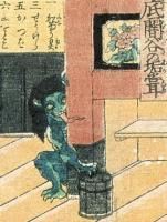 Аканамэ. Рисунок Утагавы Ёсикадзу