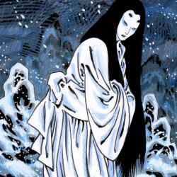 Снежная женщина, рисунок