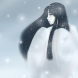 Юки-онна. Автор рисунка Nukude