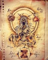Полуденица. Иллюстрация Елены Босиковой