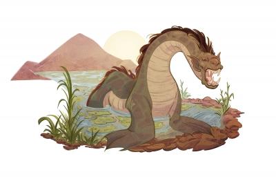Буньип. Иллюстрация Александрии Хантингтон
