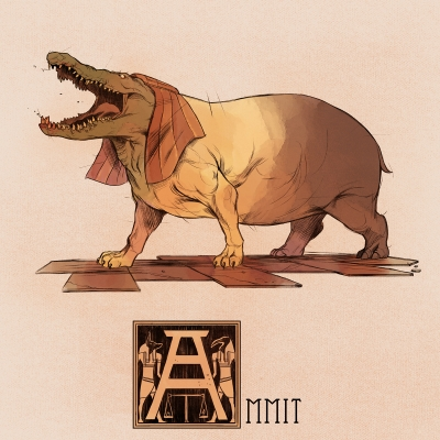 """Аммут. Иллюстрация Натана Андерсона (Nathan J. Anderson, """"Deimos-Remus"""")"""