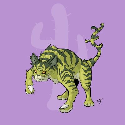 Кактусовый кот. Иллюстрация Трэйси Шепарда