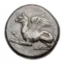 Грифон. Тетрадрахма из Абдер, V век до н.э.