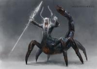 Человек-скорпион Акрабуамелу. Рисунок Йигита Короглу