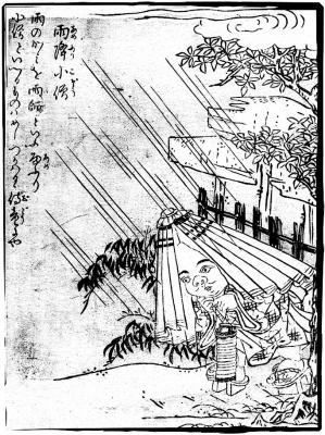 Амэфури-кодзо. Иллюстрация Ториямы Сэкиэна