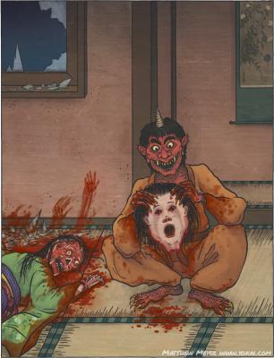 Аманодзяку. Иллюстрация Мэтью Мэйера