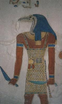 Древнеегипетский демон-стражник. Гробница принца Аменхерхепешефа, сына Рамсеса III (XX династия)