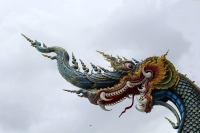 Дракон-макара, король нагов. Скульптурное изваяние, Северный Таиланд