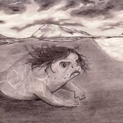 Анкы-келе. Рисунок Валентина Дельвесто