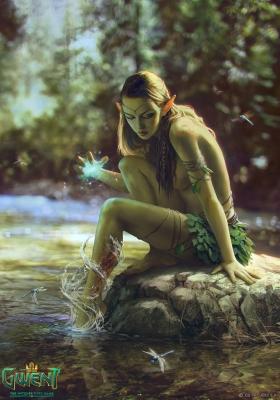 "Дриада Аглайиса. Иллюстрация Анны Подедворной к ККИ ""Gwent: The Witcher Card Game"""