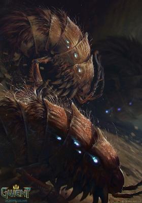 """Барбегази. Иллюстрация Анны Подедворной к ККИ """"Gwent: The Witcher Card Game"""""""