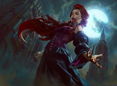 """Vampire of the Dire Moon. Иллюстрация Анны Подедворной к ККИ """"Magic the Gathering"""""""