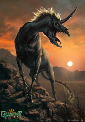 """Хиронекс. Иллюстрация Анны Подедворной к ККИ """"Gwent: The Witcher Card Game"""""""