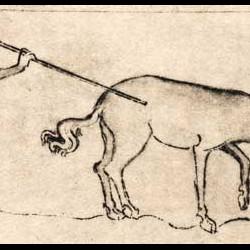 Анталоп. Иллюстрация из Псалтыря королевы Мэри (Royal MS 2 B. Vii)